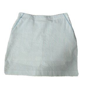 EP Pro Golf Women's Blue White Stripe Print Zipper